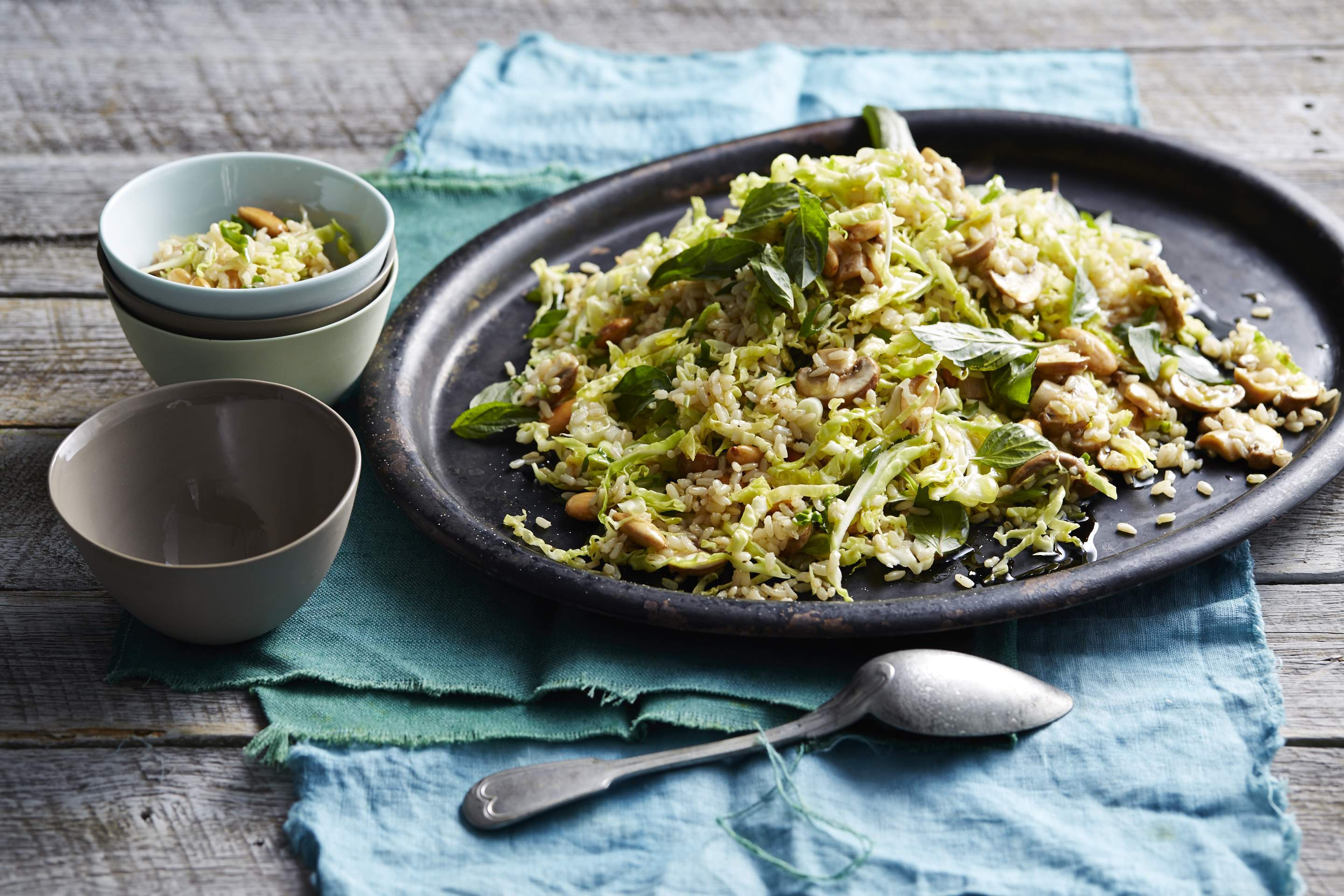 Brown Rice, Mushroom & Cabbage Salad
