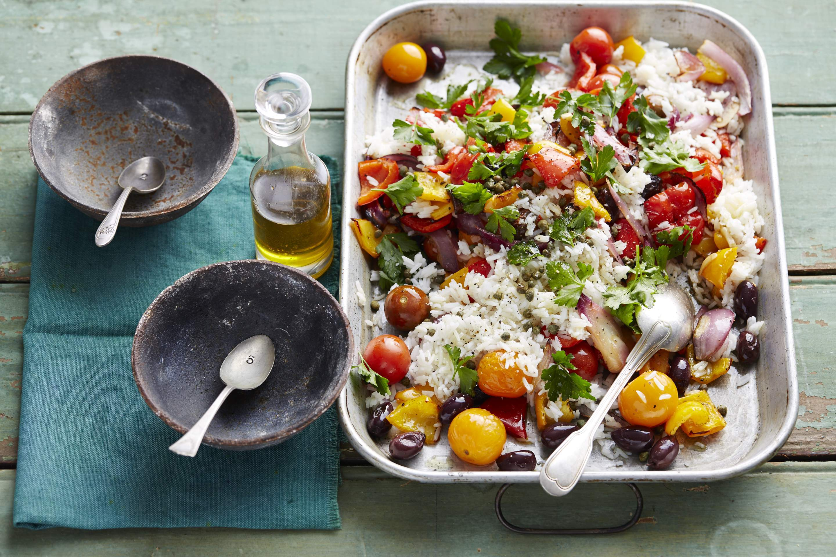Warm Caponata & Rice Salad
