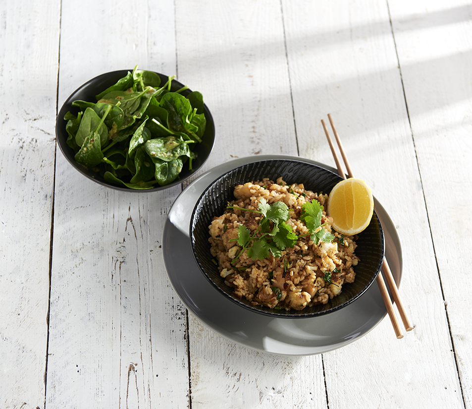 Spiced cauliflower coriander rice