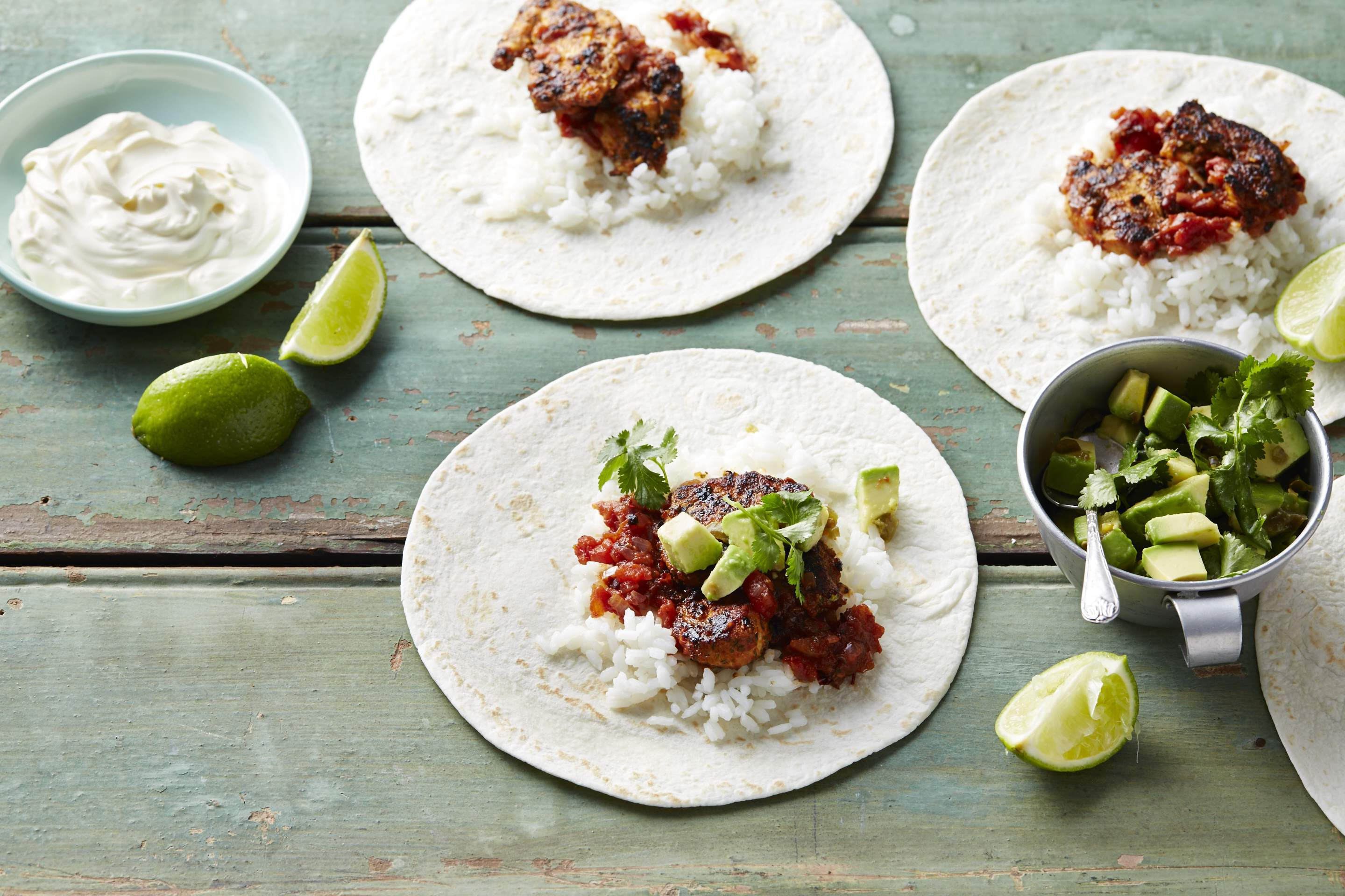 Mexican Chicken Fajitas with Medium Grain Rice
