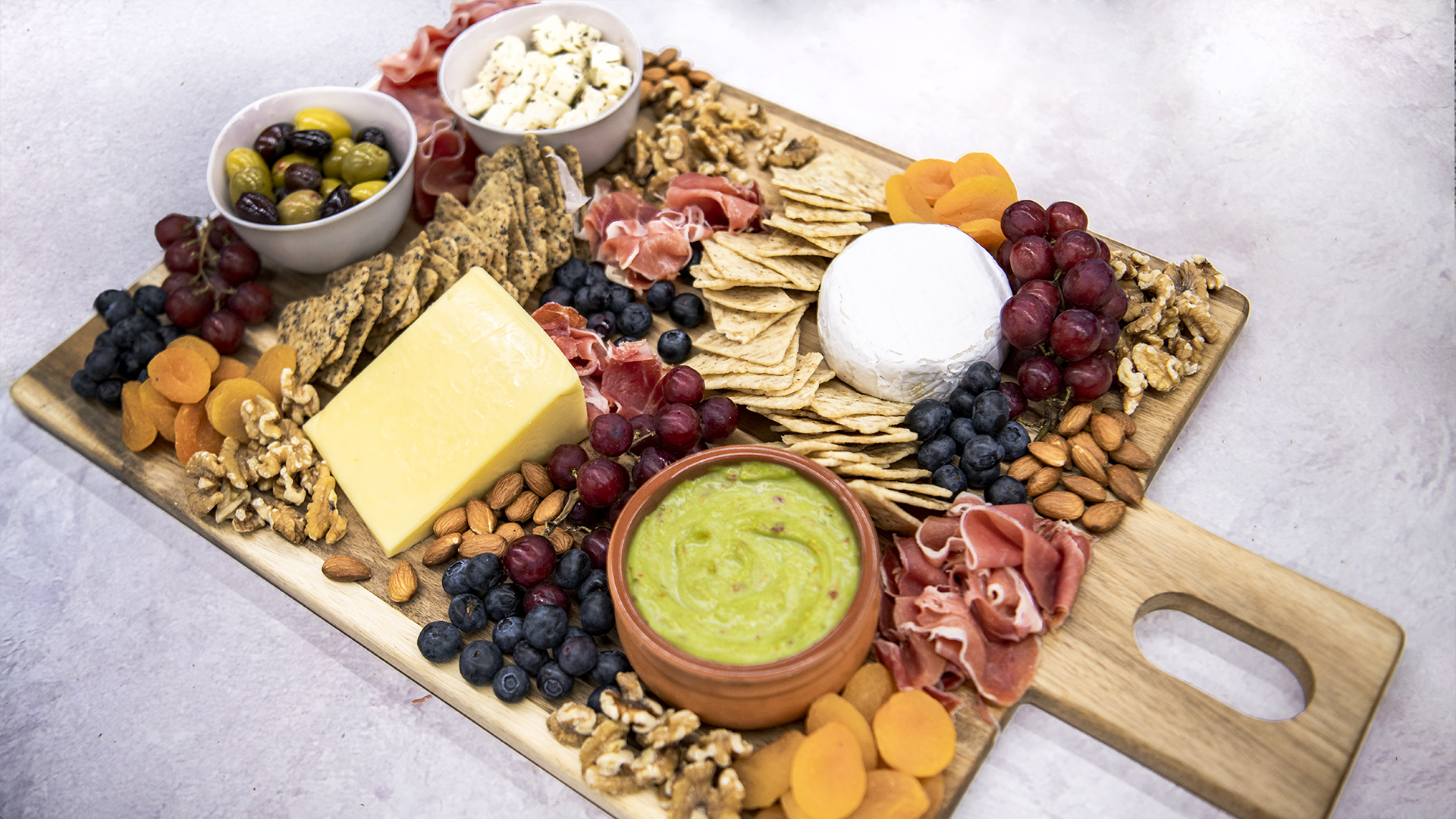 Easy Cheese Board with Brown Rice Chips