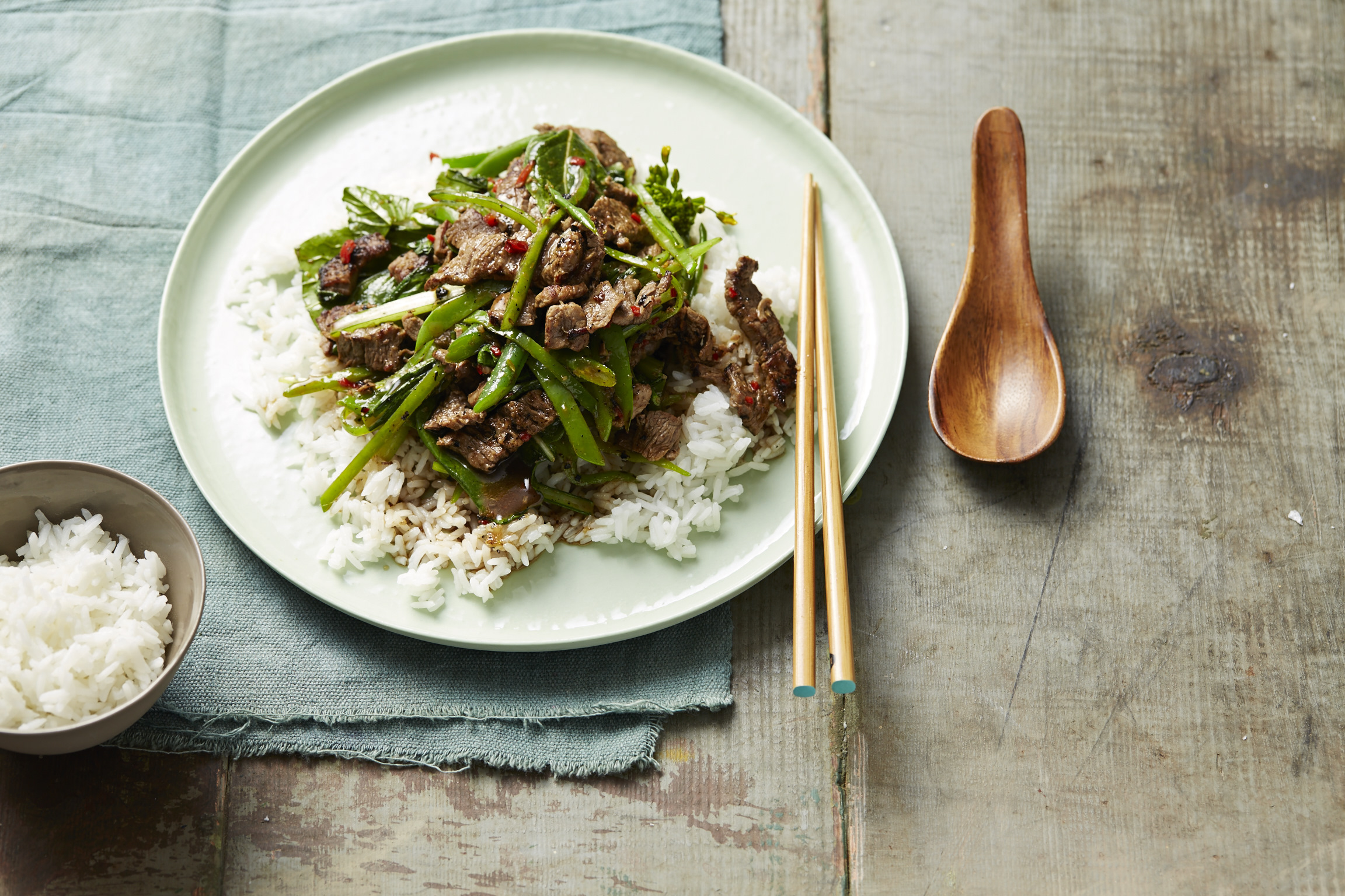 Lemongrass, Ginger & Beef Stir-Fry