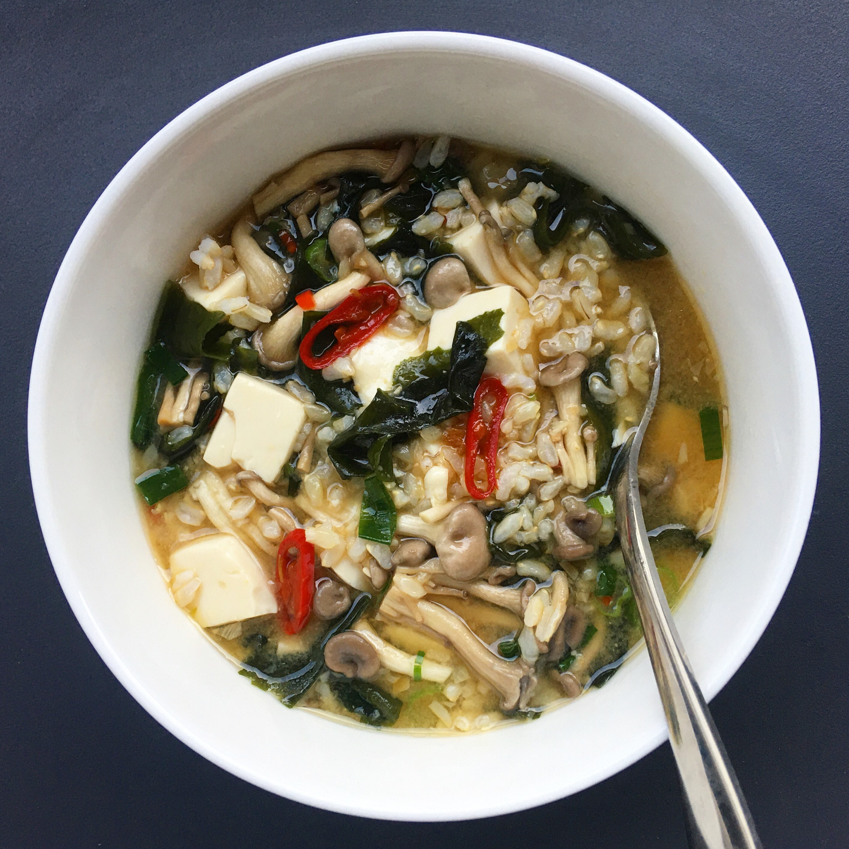 Poh's Miso & Brown Rice Soup