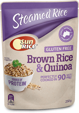 Sunrice Microwave Brown Rice Quinoa 250G Angle