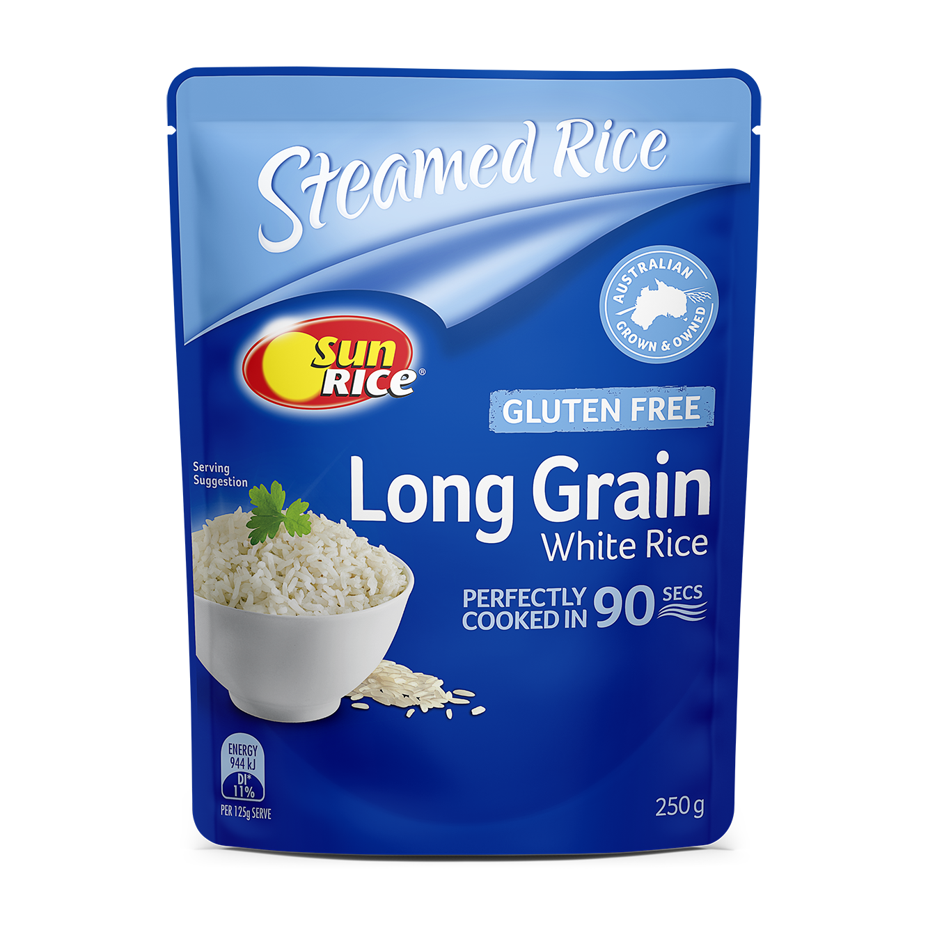 Sunrice Microwave Long Grain White Rice 250G