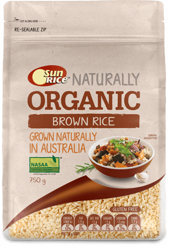 Sunrice Organic Brown Rice 750G