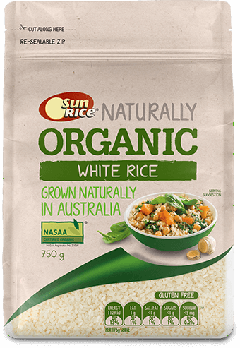 Sunrice Organic White Rice 750G