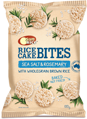 Sunrice Rice Cake Bites Sea Salt 100G