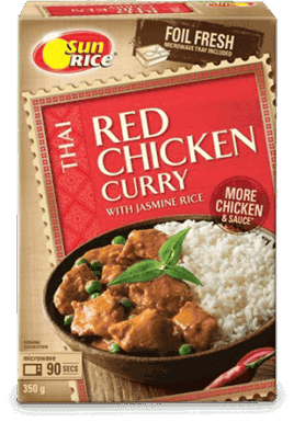 Red Chicken Curry With Jasmine Rice