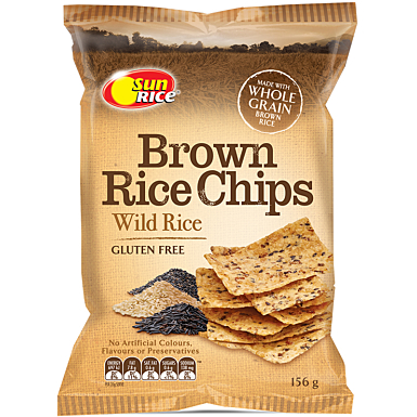 Sunrice Brown Rice Chips Wild Rice 156G
