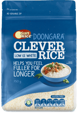 Sunrice Low Gi Clever White Rice 750G