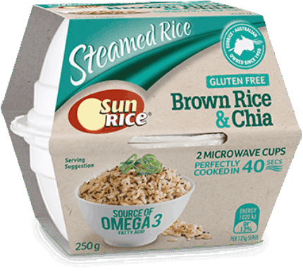 Sunrice Microwave Brown Rice Chia Quick Cups 250G