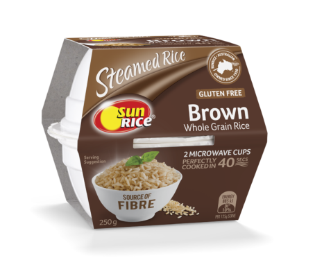 Sunrice Microwave Brown Rice Quick Cups 250G