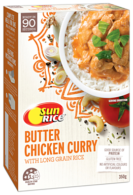 Sunrice Ready Meals Butter Chicken Curry 350G