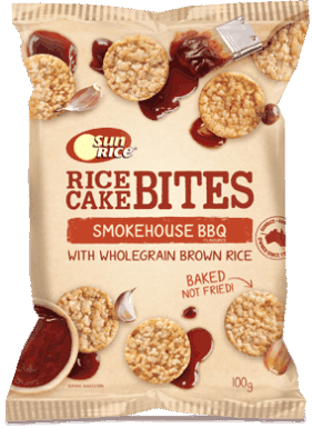 Sunrice Rice Cake Bites Smokehouse Bbq 100G