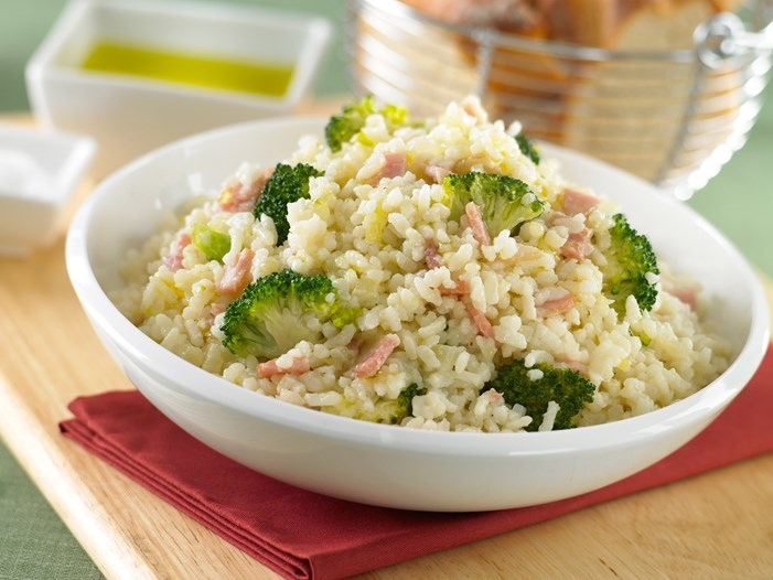 Broccoli and bacon risotto