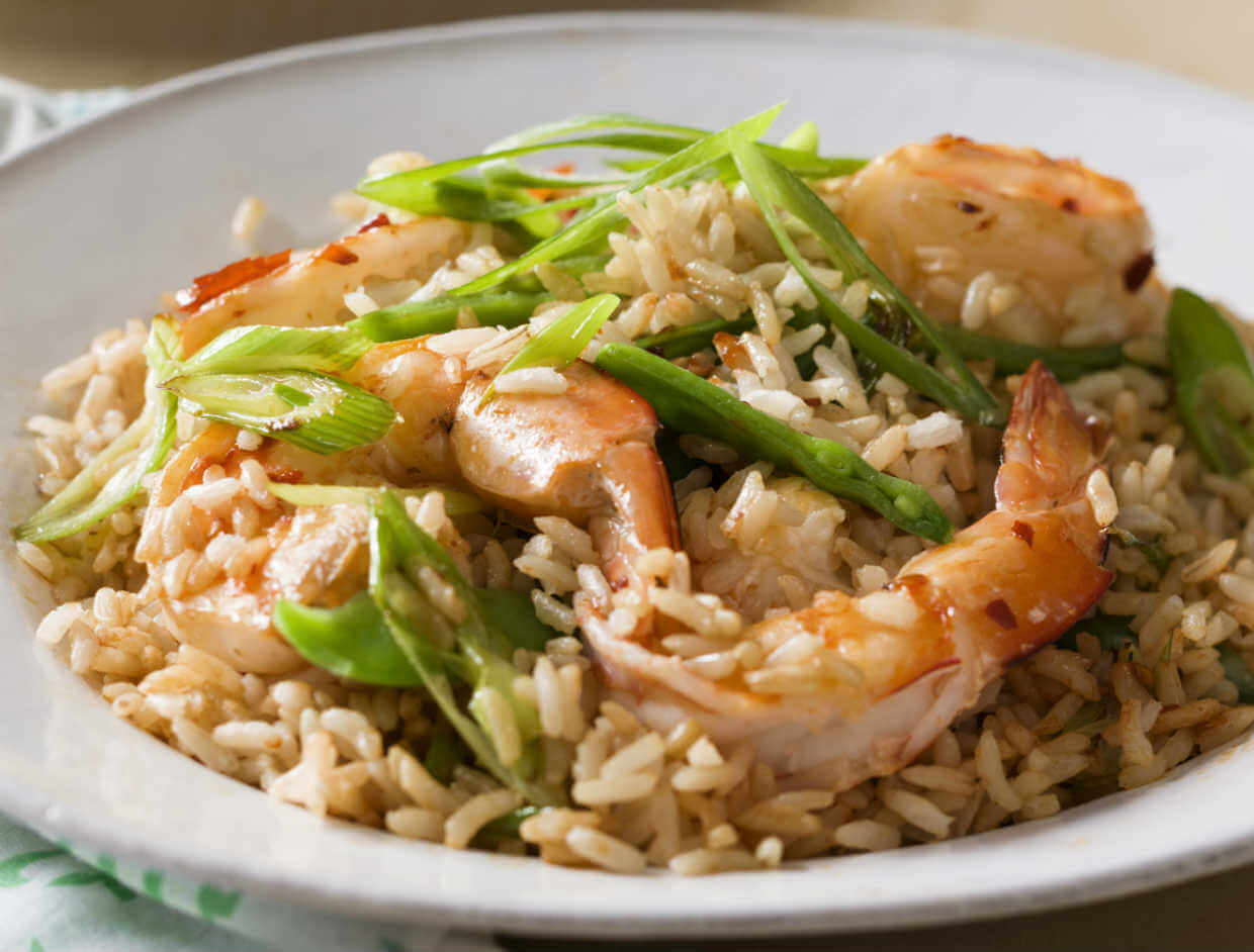 Chilli prawn rice