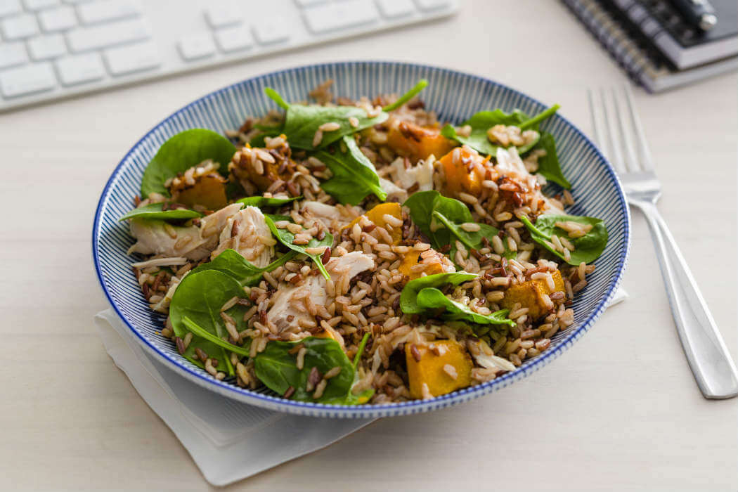 Honey Mustard Chicken Salad In 5 Rice Recipes Sunrice